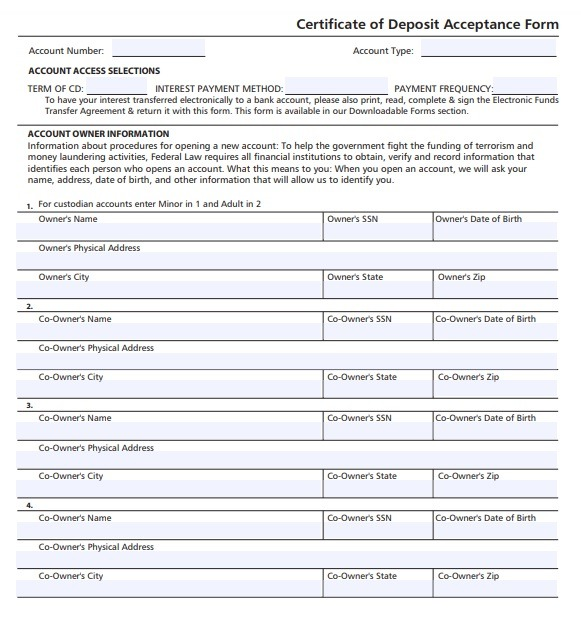 10+ Certificate Of Acceptance Templates