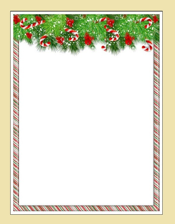 12  christmas border certificate templates