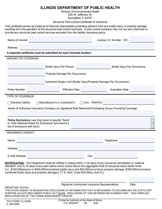 11+ Certificate of Liability Insurance Form   Free ...